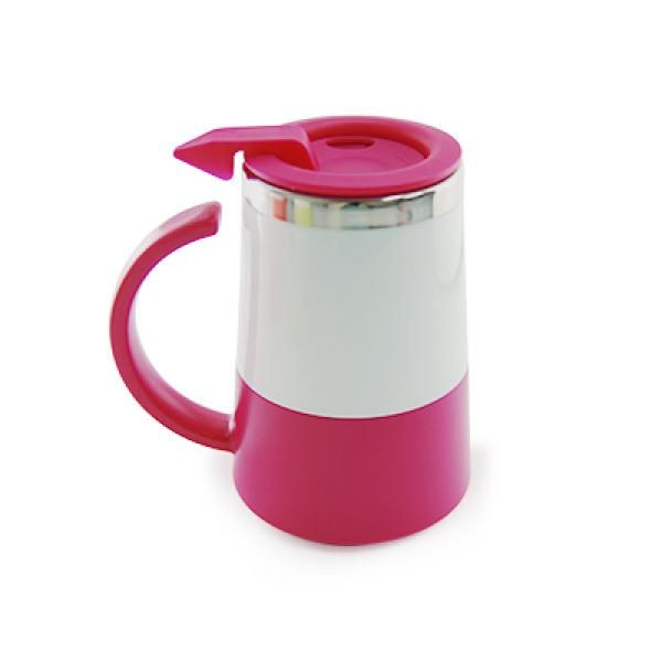 Two Tone Double Wall Stainless Steel Mug Household Products Drinkwares UMG1302Pink[1]